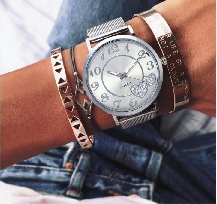 zegarek damski srebrny LOVE