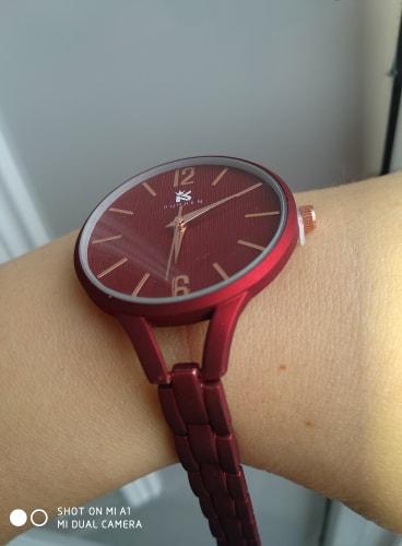 czerwony zegarek matowy