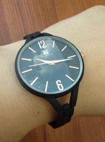 zegarek damski matowy czarny