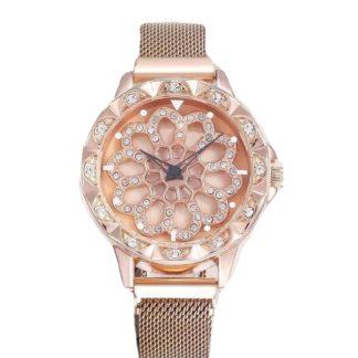 Zegarek damski z obrotową tarczą
