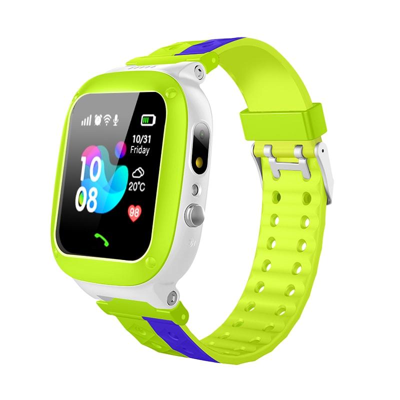 smartwatch F18 dla dzieci GPS zielony