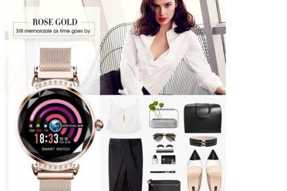 modny smartwatch damski rose gold