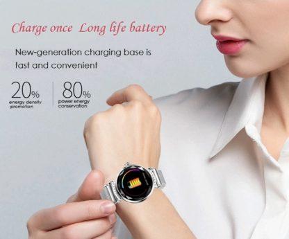 długa żywotność baterii smartwatch damski H2