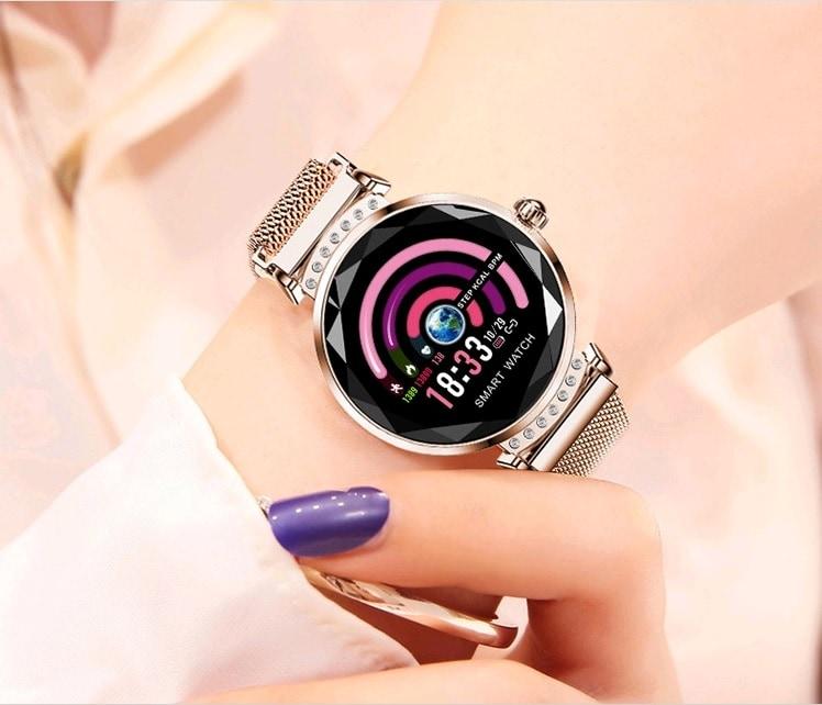 Zegarek damski Smartwatch dla kobiet Glamur Shine