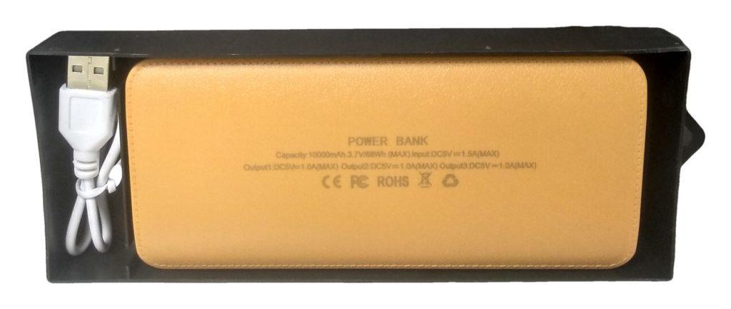 powerbank pudełko kabel